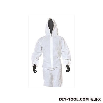 不織布作業衣 つなぎ 白 3L (BNW-A(3L))