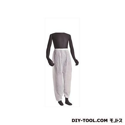 不織布作業衣パンツ 白 フリーサイズ (BNW-D)