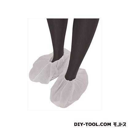 不織布作業衣シューズカバー 白 フリーサイズ (BNW-J) 10枚入