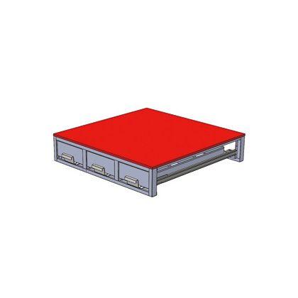バンキャビネット(3列引き出し)   SCT-F01