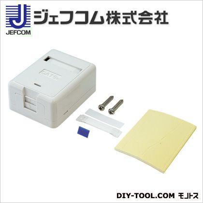 デンサン マウントボックス(1個口シールドジャック付) 白 67×61×30mm LMBOX-1KS