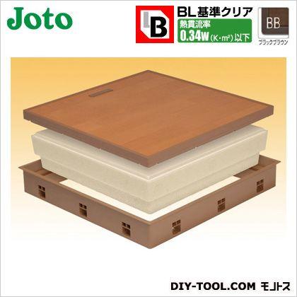 高気密床下点検口 ブラックブラウン 600×600×77.5mm SPF-R60F12-BL2-BB