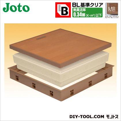 高気密床下点検口 ミディアムブラウン 600×600×77.5mm (SPF-R60F12-BL3-MB)