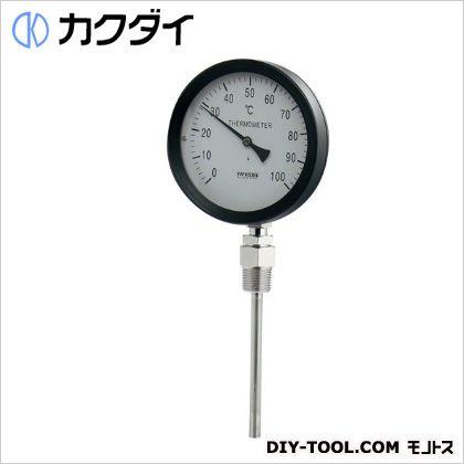 カクダイ バイメタル製温度計(ストレート型)   649-907-50A