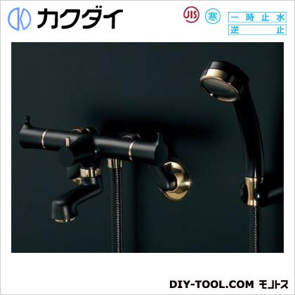 2ハンドルシャワー混合栓(一時止水・マットブラック) (139-022K)