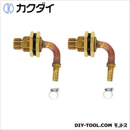 ユニットバス貫通金具(ペアホース用)10A   416-458 2 個セット