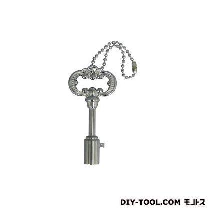 アンティーク調共用栓カギ クローム  742-002