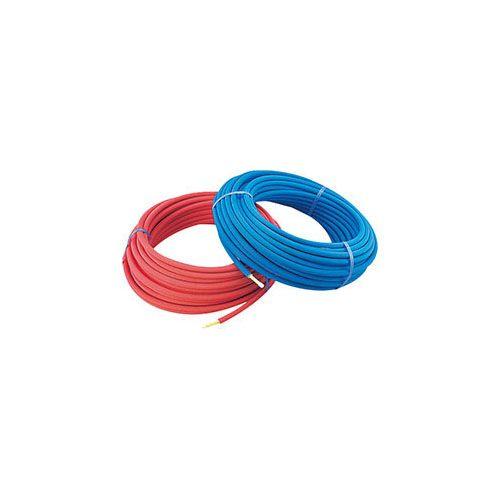 保温材つき架橋ポリエチレン管(青) 10A   672-115-50B 1