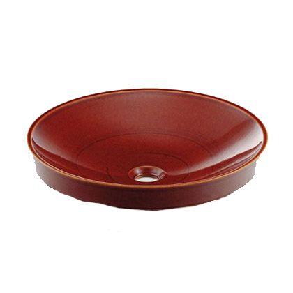 丸型洗面器 飴  493-049-BR