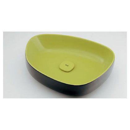 Olympia(オリンピア) 洗面器 黄緑黒(イエローグリーン・ブラック) (#LY-493210GD) 洗面器 洗面