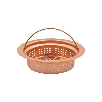 GAONA これカモ シンク用 銅製ゴミカゴ 排水口のゴミ受け   GA-PB012