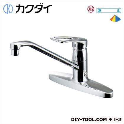 シングルレバー混合栓(分水孔つき)   116-104