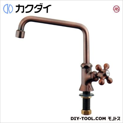 カラー泡沫立形自在水栓ブロンズ   700-712-13