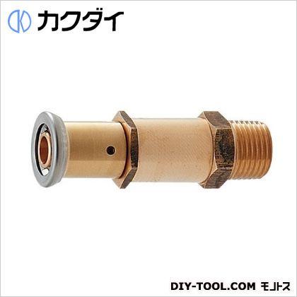 カクダイ JKロック胴長外ネジアダプター(ワンタッチ)   610-007-13A