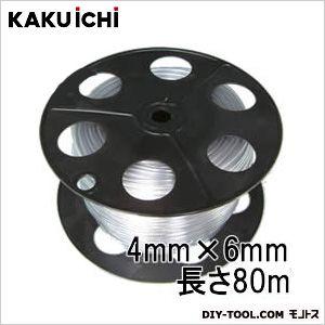 PB巻 透明ホース チューブ 工業用 4mm×6mm 80m