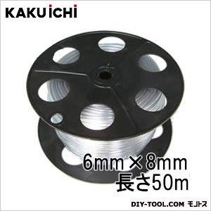 PB巻 透明ホース チューブ 工業用 6mm×8mm 50m