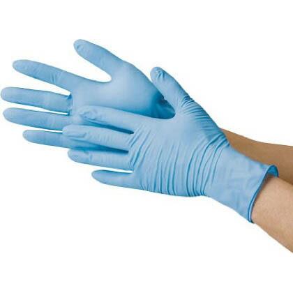 ニトリル極薄手袋(粉付き) (2044BL) 100枚