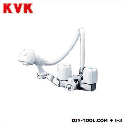 一時止水付2ハンドル洗髪シャワー 固定こま  幅×奥行:100×139mm KF12F2-1ZE