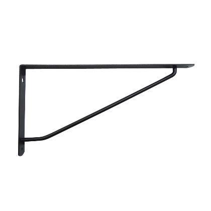カラーアーム棚受 黒 27x13.5cm