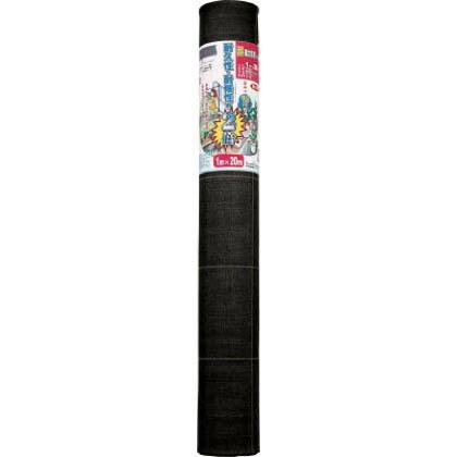 超強力防草シート 黒 長さ:20m巻/幅:1m 7633