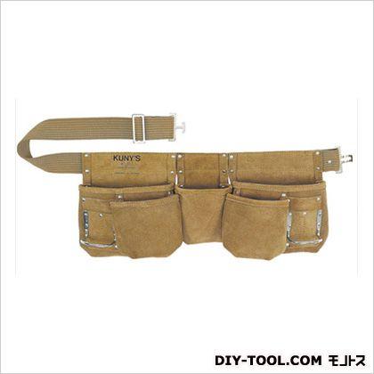 革製腰袋ダブルバッグ 腰袋両側ベルト(ベルト付き) (AP-622 )