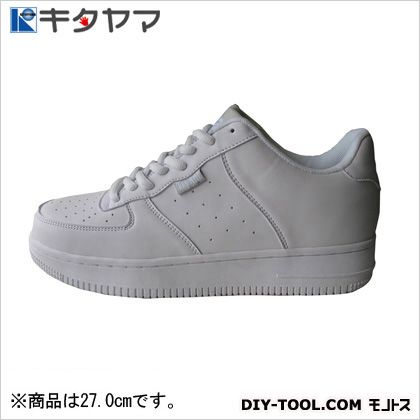 安全靴 マンティス 紐タイプ 3E ホワイト 27.0cm M-19