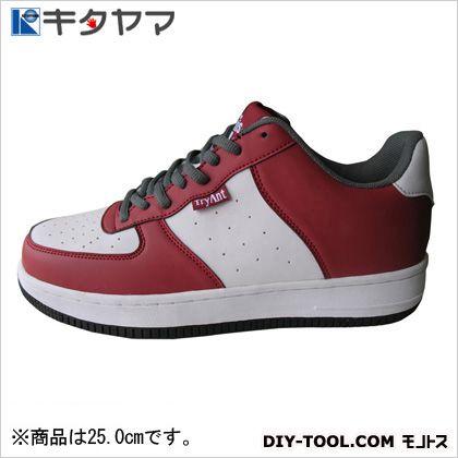 安全靴 マンティス 紐タイプ 3E ホワイト/レッド 25.0cm M-19