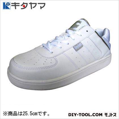 安全靴 クリケット 3E ホワイト/ホワイト 25.5cm C-21