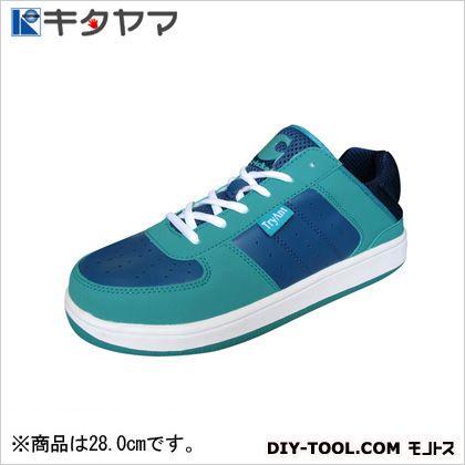 安全靴 クリケット 3E ネイビー/エメラルド 28.0cm C-21