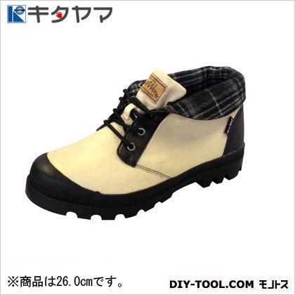 安全靴 バグワーム 3E アイボリー 26.0cm (B-24)