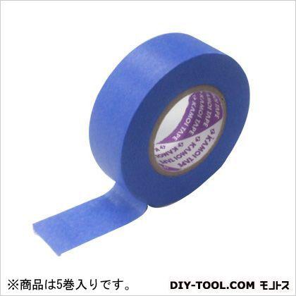 カモ井マスキングテープ建築塗装用(5巻入り)  24mm×18m  5 巻