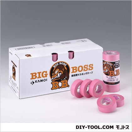 BIG BOSS 車両塗装用マスキングテープ  18mm×18m  7 巻