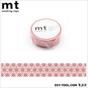 mt 1P 麻の葉・朱赤 奥行4.8×幅4.8×高さ1.5cm (MT01D215)