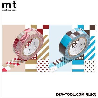 カモイ/カモ井 mt 2P ミックス・レッド×ブルー  奥行1.5×幅10×高さ18.5cm MT02D056