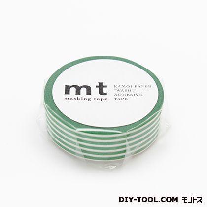 mt 1P ボーダー・エバーグリーン 15mm×10m (MT01D257)