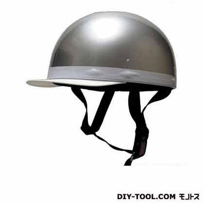 白ツバ半キャップヘルメットフリー シルバー  NO.701