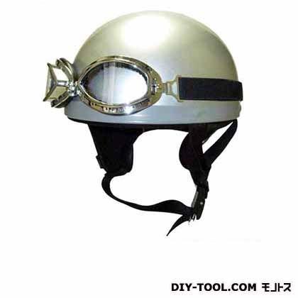 ゴーグル付ビンテージヘルメット シルバーフリー  KV-5MG