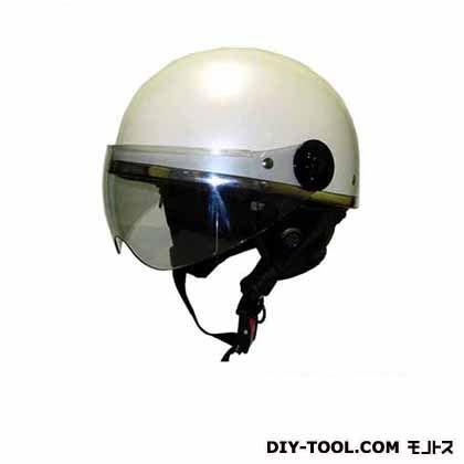 シールド付ビンテージヘルメット フリー パールホワイト  KV-41S