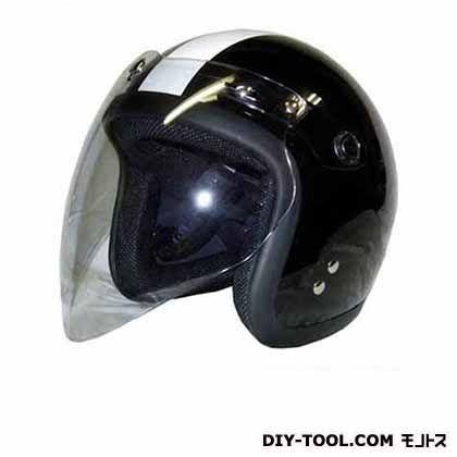 バブルシールド付スモールジェットヘルメット フリー メタリックブラック/チェッカー  SJ-68B