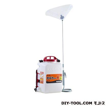 【送料無料】工進 消毒名人(乾電池式噴霧器) ホワイト  DK-10D  背負動力噴霧機噴霧器