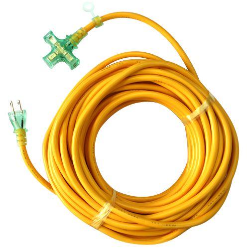 Pランプ付コード15A20M 黄色 20m KMP807-20 キイロ