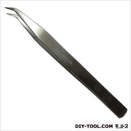 角利産業 ピンセット 先曲 18-8  全長150mm No.17