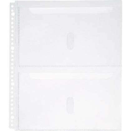 キングジム A4S取扱説明書ファイル用ポケット(30穴)2段タイプ   2630PA