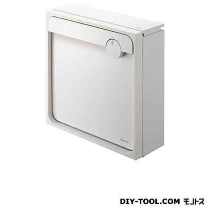 Qual 郵便受箱(壁付け)ポスト ホワイト×ホワイト H450×W450×D160mm KS-MAB1-LK-WW 1 台