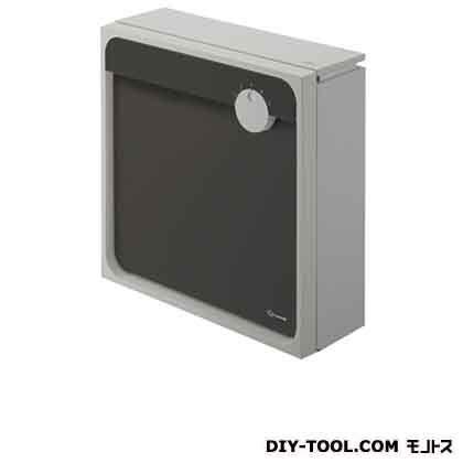 Qual 郵便受箱(壁付け)ポスト ライトグレー×ブラック H450×W450×D160mm KS-MAB1-LK-LB 1 台