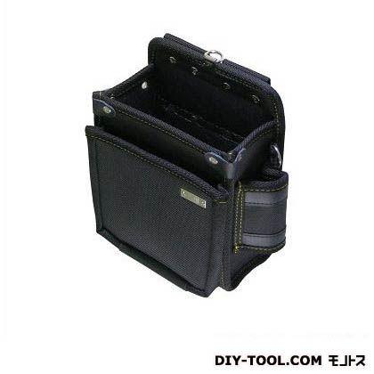 基陽 1680D ウエストバッグ 2段 中 ブラック W225 H220 D110 2008