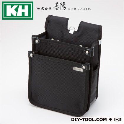 超軽量ウェストバッグ背割タイプ ブラック W205 H260 D110 (22243)