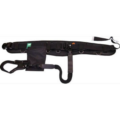 駕王安全帯フルセット アロッキー(ワンタッチ)ベルト + 自在環付 + サポーターベルト付 (HUMHEMブラック色)  HGKL-HK
