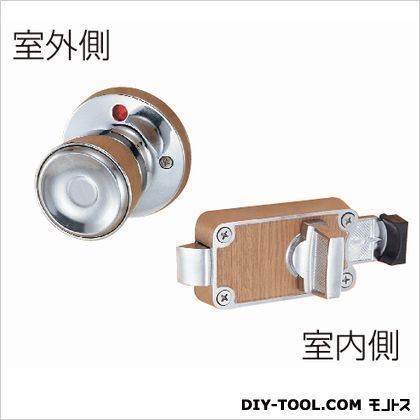 ホームWC錠  クロームメッキ 53MM   セット
