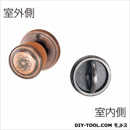ホームカラー戸襖錠  銅ブロンズ 65MM   セット